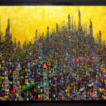 ON SALE | GOLD TOWN | 97 x 130 cm | art scouter | TOKYO |  2019 | JAPAN #contemporaryart