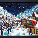ON SALE | snowy city | 24 x 33 cm | art scouter | TOKYO |  2019 | JAPAN #contemporaryart