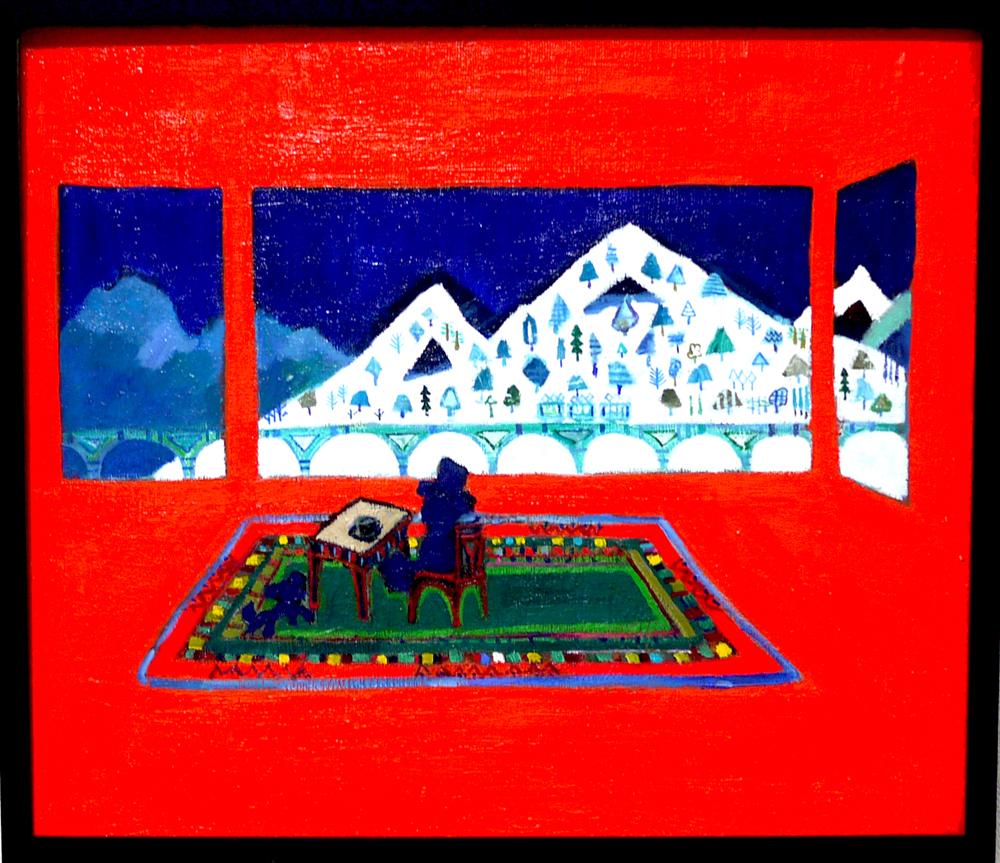 ON SALE | Orange room | oil x canvas board | 45 x 53 cm | 2019 | GALLERY TAGBOAT | JAPAN #contemporaryArt