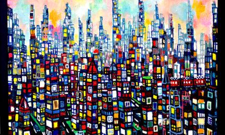 SOLD | city of dawn | 38 x 45 cm | kyuryudo | TOKYO |  2020 | JAPAN #contemporaryart