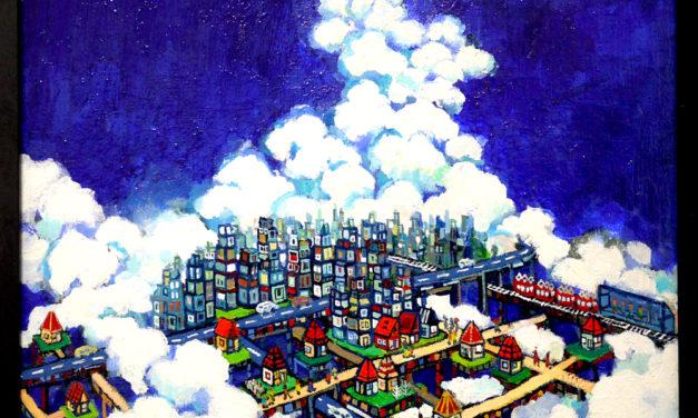 ON SALE | sky city | 38 x 45 cm | kyuryudo | TOKYO |  2020 | JAPAN #contemporaryart