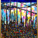 SOLD | city | 130 x 80cm | oil x canvas  | 2018 |  TAGBOAT | JAPAN #contemporaryArt