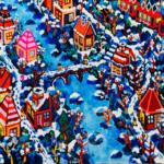 snowy city | 38x45cm | oil x wood panel | 2021