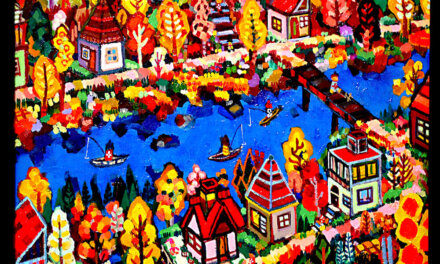 SOLD | autumn city | 38 x 45cm | oil x wood panel | 2021 |  TAGBOAT #Art