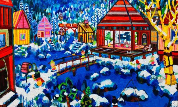 NEW | winter house | 60x72cm | oil x wood panel | 2021 #landscape