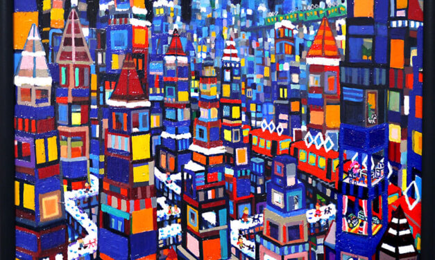 ON SALE | winter city | 38 x 45 cm | oil x wood panel | 2021 | GALLERY TAGBOAT | JAPAN #contemporaryArt